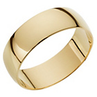 more details on 18ct Gold D-Shape Wedding Ring.