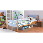 more details on Two Tone Blue & Pine Bed with Ashley Mattress.
