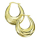 more details on 9ct Bonded Gold Large Oval Creole Hoop Earrings.