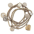 more details on Lipsy Silver Coloured Stretch Charm Bracelets - Set of 5.