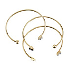 more details on Lipsy Gold Coloured Torque Bangles - Set of 3.