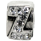 more details on Sterling Silver Kids Stone Set Alphabet Charm - Z.