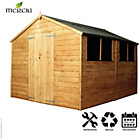 more details on Mercia Shiplap Apex Wooden Shed Installation Included-10x8ft