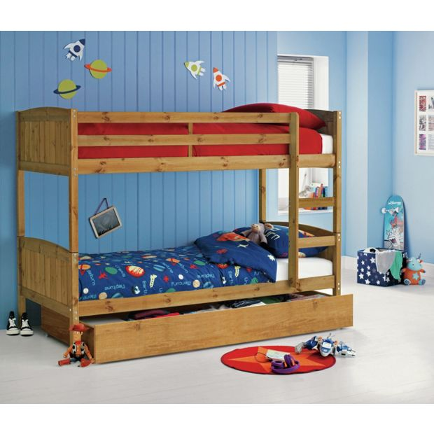 Buy home detachable bunk bed with storage ashley for Detachable bunk beds