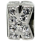more details on Miss Glitter S.Silver Kids Stone Set Alphabet Charm - K.