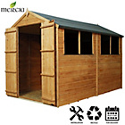 more details on Mercia Shiplap Apex Wooden Shed Installation Included-10x6ft