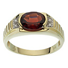 more details on 9ct Gold Garnet Diamond Ring.