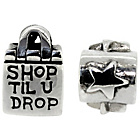 more details on Sterling Silver Kids Shop until you Drop and Star Charms.