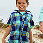 more details on Cherokee Boys Short Sleeve Blues Check Shirt - 5-6 Years.