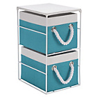 more details on 2 Drawer Storage Unit - Blue and White.