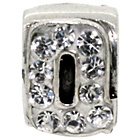 more details on Miss Glitter S.Silver Kids Stone Set Alphabet Charm - Q.