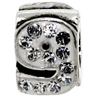 more details on Miss Glitter Sterling Silver Kids Stone Set Number Charm - 9