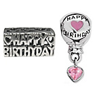 more details on Miss Glitter S.Silver Kids Happy Birthday and Balloon Charms