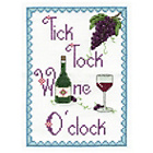 more details on Tick Tock Wine O'clock Cross Stitch Kit.