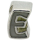 more details on Miss Glitter Sterling Silver Kids Enamel Letter Charm - E.