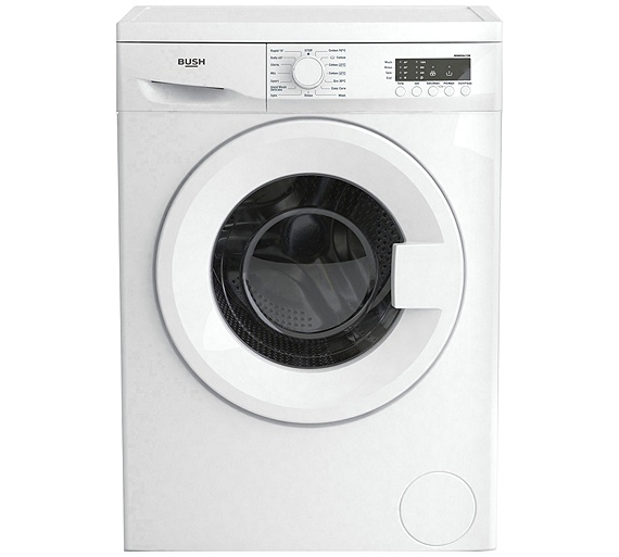 buy bush wmnsn612w 6kg 1200 spin washing machine white. Black Bedroom Furniture Sets. Home Design Ideas