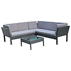 more details on Ratten Effect Stacking Corner Sofa - Black.