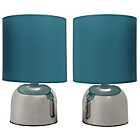 more details on ColourMatch Pair of Touch Table Lamps - Lagoon.
