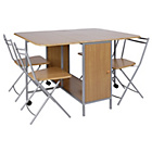 more details on Butterfly Oval Dining Table and 4 Folding Chairs.