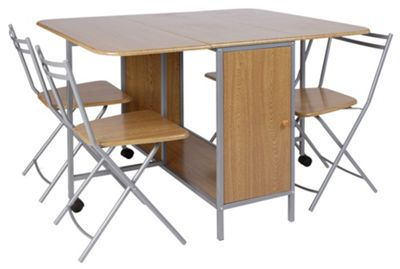 Buy HOME Butterfly Oval Dining Table and 4 Folding Chairs  : 4571607RSETTMBampwid620amphei620 from www.argos.co.uk size 620 x 620 jpeg 31kB