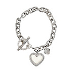 more details on Lipsy Silver Coloured Heart Charm T-Bar Bracelet.