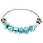 more details on Miss Glitter S.Silver Kids Blue Made Up Bracelet and Stopper