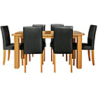more details on Heyford Extendable Dining Table and 6 Black Chairs.
