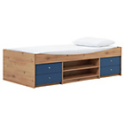 more details on Malibu Blue on Pine Cabin Bed with Elliott Mattress.