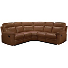 more details on New Paulo Leather Dual Face Manual Recline Corner Sofa - Tan