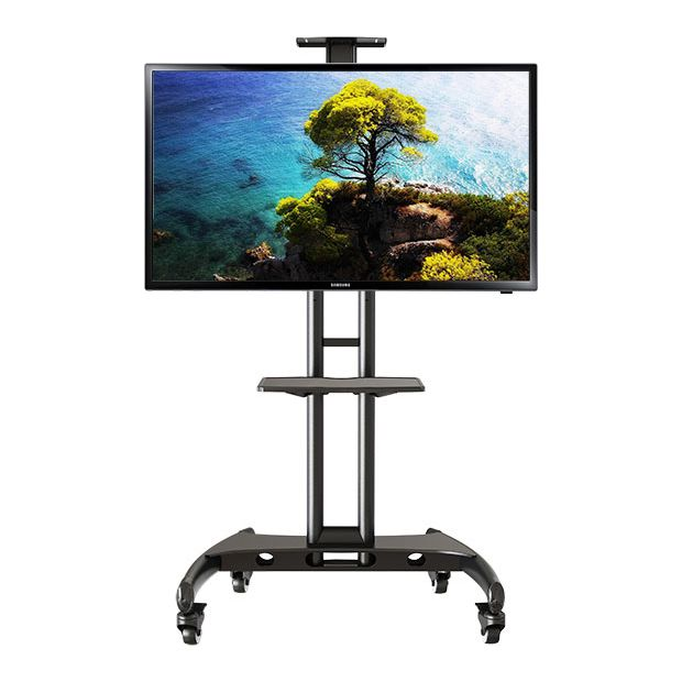 buy portable tv trolley stand for 32 65 inch at. Black Bedroom Furniture Sets. Home Design Ideas