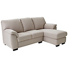 more details on Milano Fabric Chaise Corner Sofa Group - Mink.