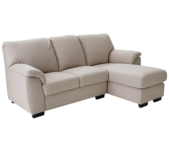 Buy collection milano fabric right hand chaise longue sofa for Chaise longue sofa bed argos