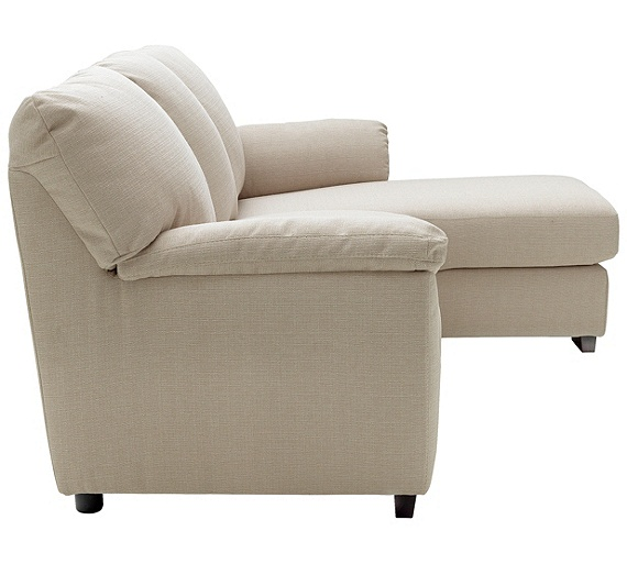 Buy collection milano fabric right hand chaise longue sofa for Argos chaise sofa bed