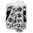 more details on Sterling Silver Kids Stone Set Number Charm - 4.