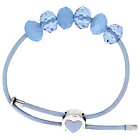 more details on Miss Glitter S.Silver Kids Blue Made Up Bracelet/Heart Clasp