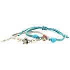 more details on Miss Glitter S.Silver Kids Blue Shambala Bracelets - 2.