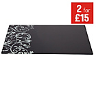 more details on Damask Glass Worktop Saver - Black.