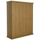 more details on Canterbury 3 Door Wardrobe - Oak effect