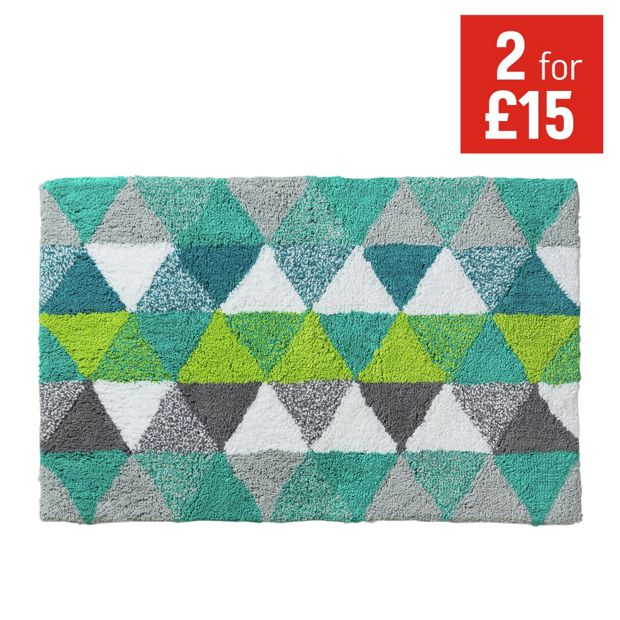 buy colourmatch bath mat geometric at your. Black Bedroom Furniture Sets. Home Design Ideas