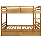 more details on Josie Single Bunk Bed with Drawers &2 Ashley Mattresses-Pine