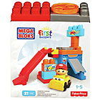 more details on Mega Bloks First Builders Spin & Go Garage Playset.