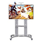 more details on Professional Portable TV Trolley Stand - Black.