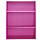 more details on Phoenix 3 Shelf Wide Bookcase - Pink.