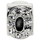 more details on Miss Glitter S.Silver Kids Stone Set Alphabet Charm - O.