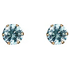 more details on 9ct Gold Aqua Cubic Zirconia Stud Earrings.
