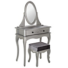 more details on Sophia Dressing Table, Stool & Mirror - Silver.