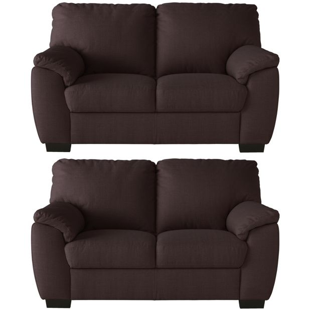Buy Collection Milano Pair Of 2 Seater Fabric Sofas