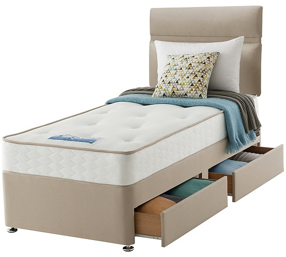 Buy sealy revital backcare single 2 drw divan bed at your online shop for divan Argos single divan beds