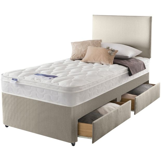 Buy Silentnight Auckland Natural Single 2 Drw Divan Bed At