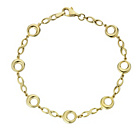 more details on 9ct Bonded Gold Solid Look Circles Bracelet.